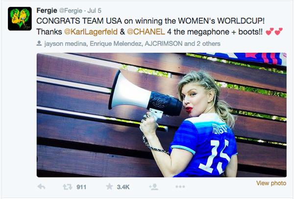Fergie twitter