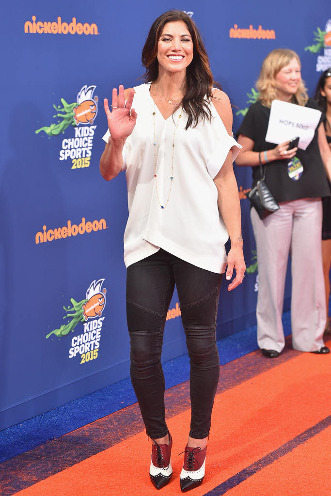 Hope Solo Nickelodeon Kids' Choice Sports Awards Red Carpet