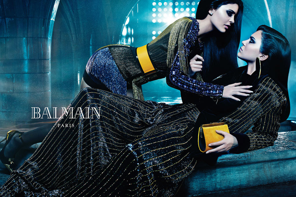 Kendall and Kylie Jenner Balmain Campaign