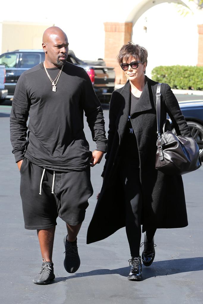 Kris Jenner Corey Gamble Black Yeezys