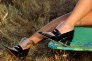 Maison Marigela Fall '16 shoe in the video