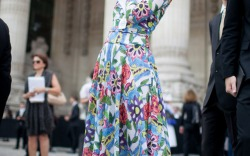 Paris Couture Fall '15 Street Style