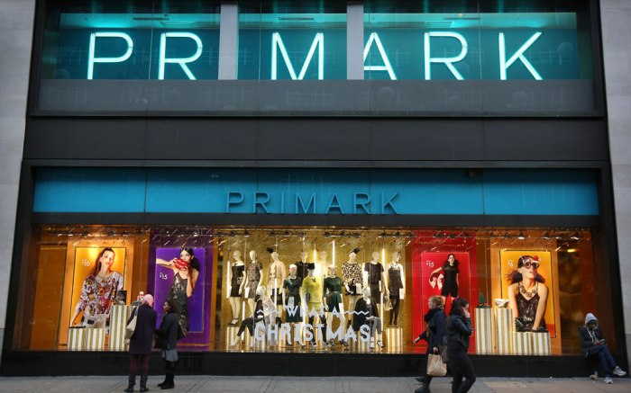 A Primark store front.