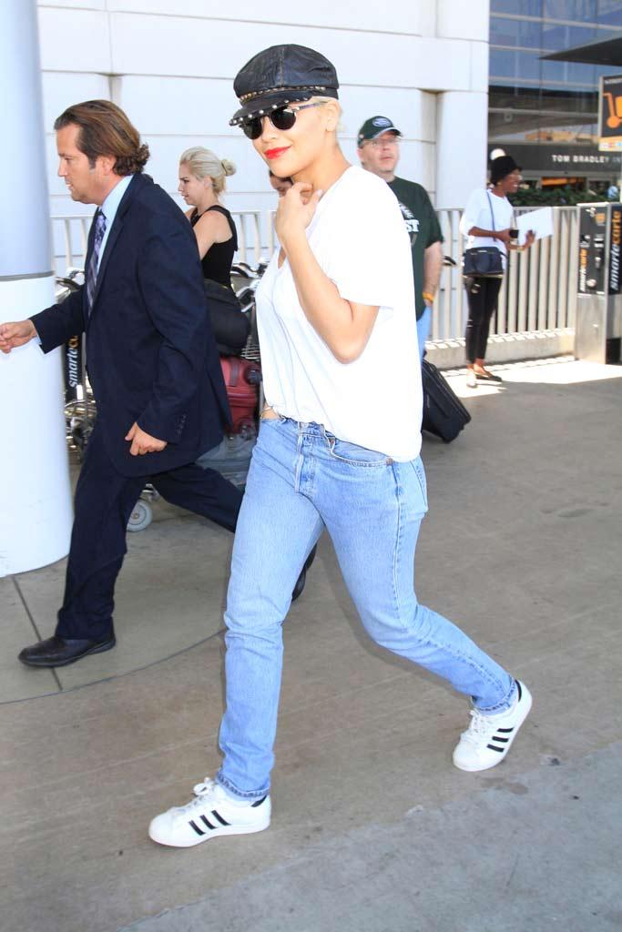 Rita Ora Celebrity Sneakers Style