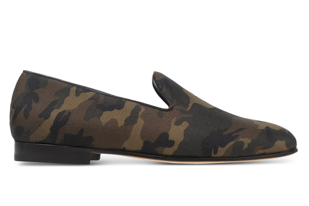 CB made in italy camo loafer