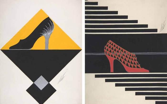 Erte shoe art for Delman