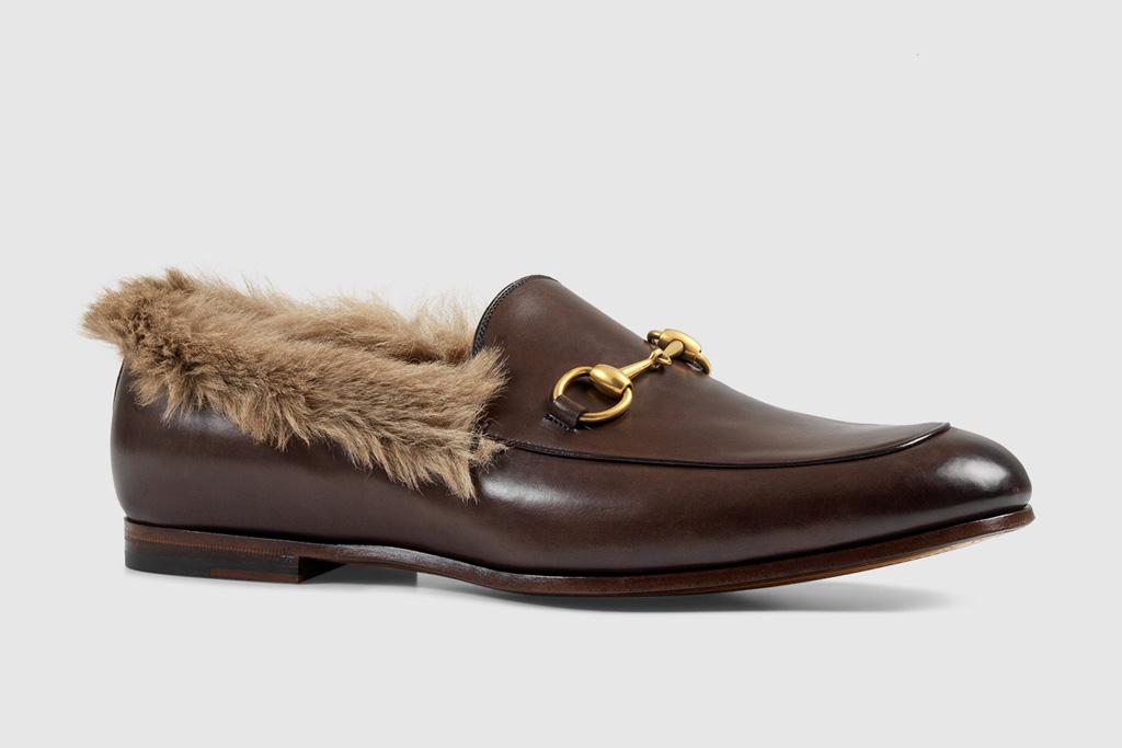 gucci fur loafer