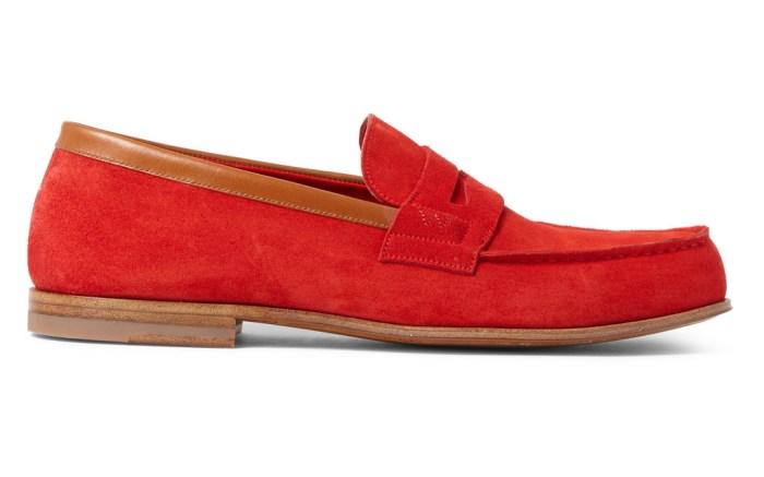 J.M Weston suede loafer
