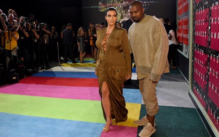 Kanye West and Kim Kardashian 2015 MTV Video Music Awards