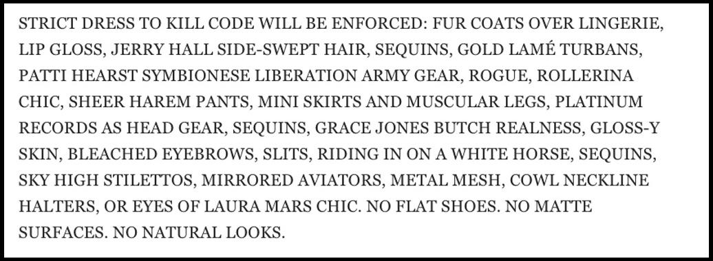 Marc Jacobs Fashion Week Invite