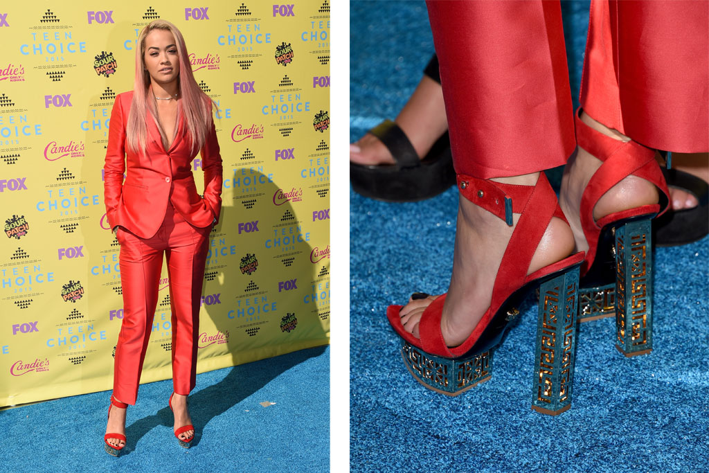 Rita Ora in Versace at the Teen Choice Awards