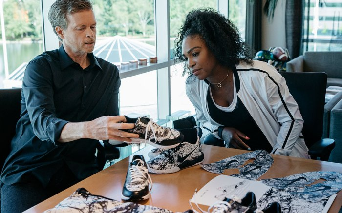 Serena Williams and Nike's Mark Parker