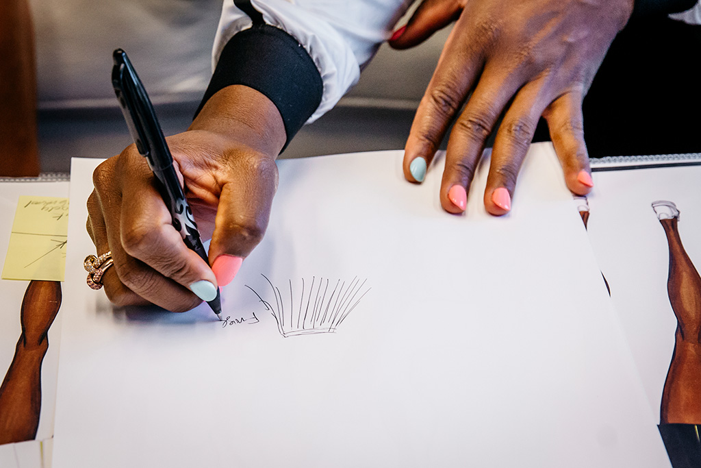 Serena Williams Sketches for Nike