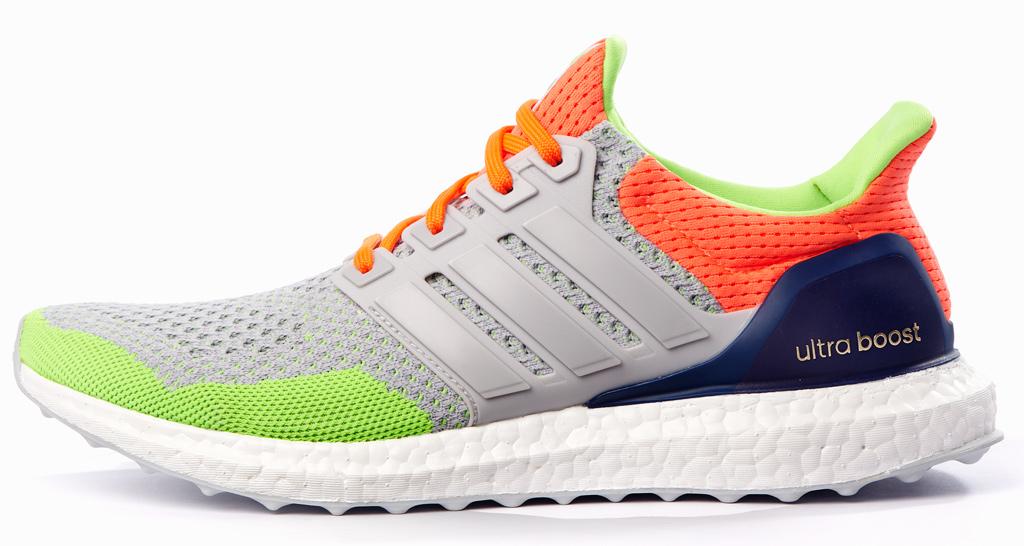 Adidas Kolor Ultra Boost Gray Green Orange