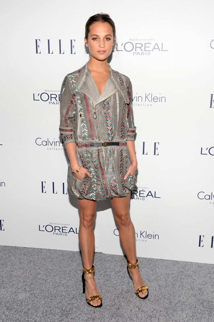Alicia Vikander Celebrity Statement Shoes Fall 2015