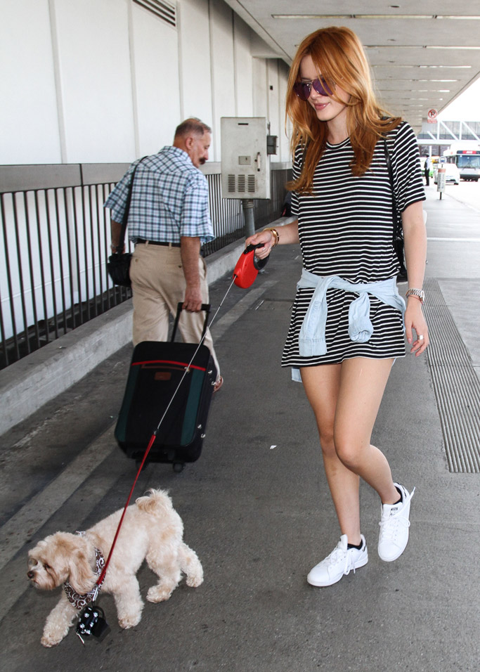 Bella Thorne adidas stan smith, best white sneakers with dresses