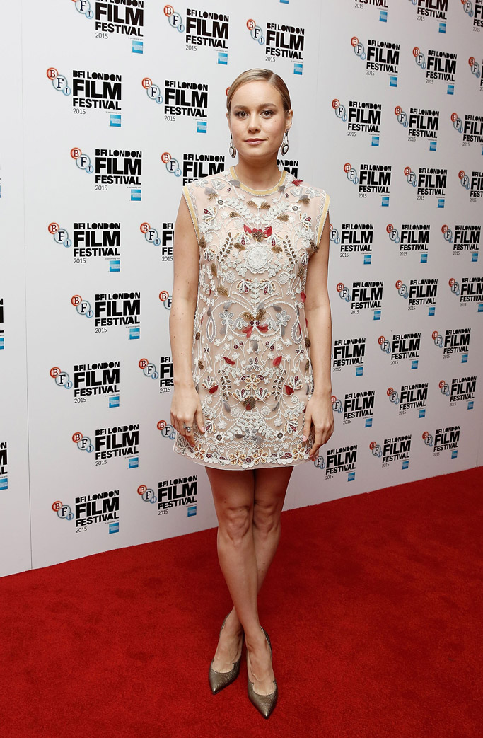 Brie Larson Celebrity Statement Shoes Fall 2015