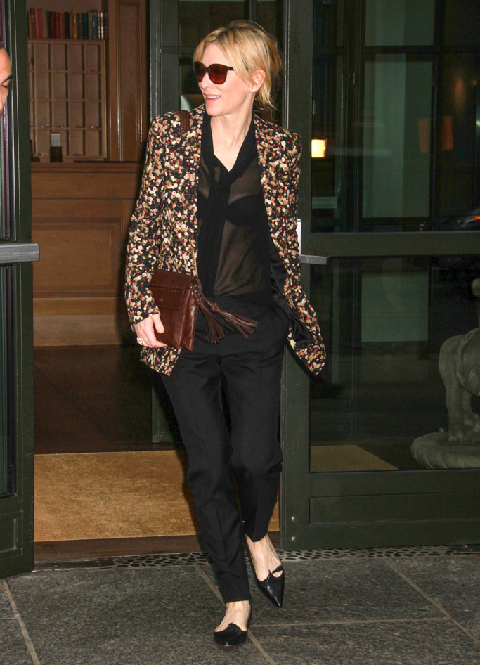 Cate Blanchett Celebrity Statement Shoes Fall 201