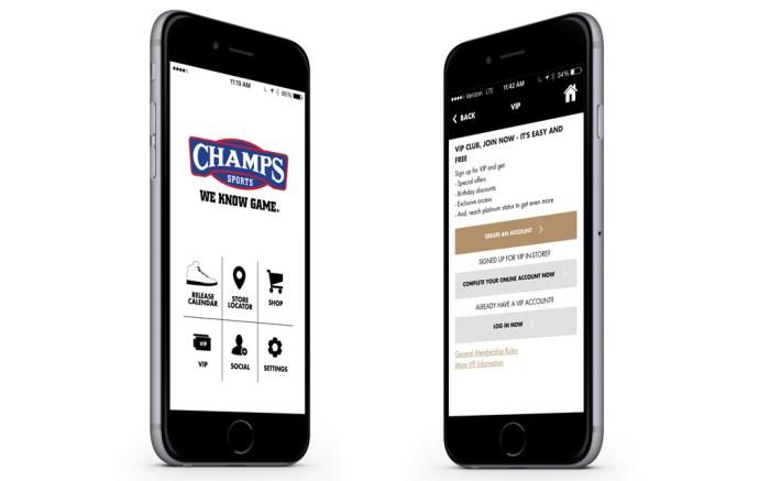 Champs Sports App