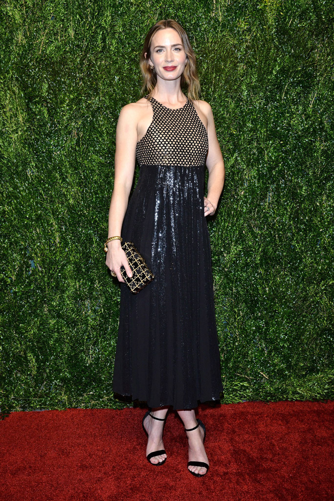 Emily Blunt Celebrity Statement Shoes Fall 2015