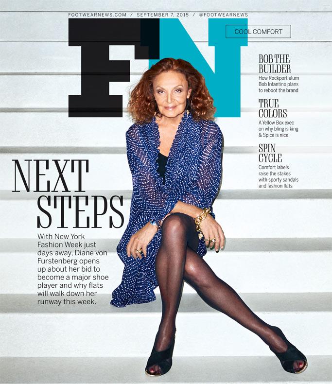 Diane von Furstenberg Footwear News Cover