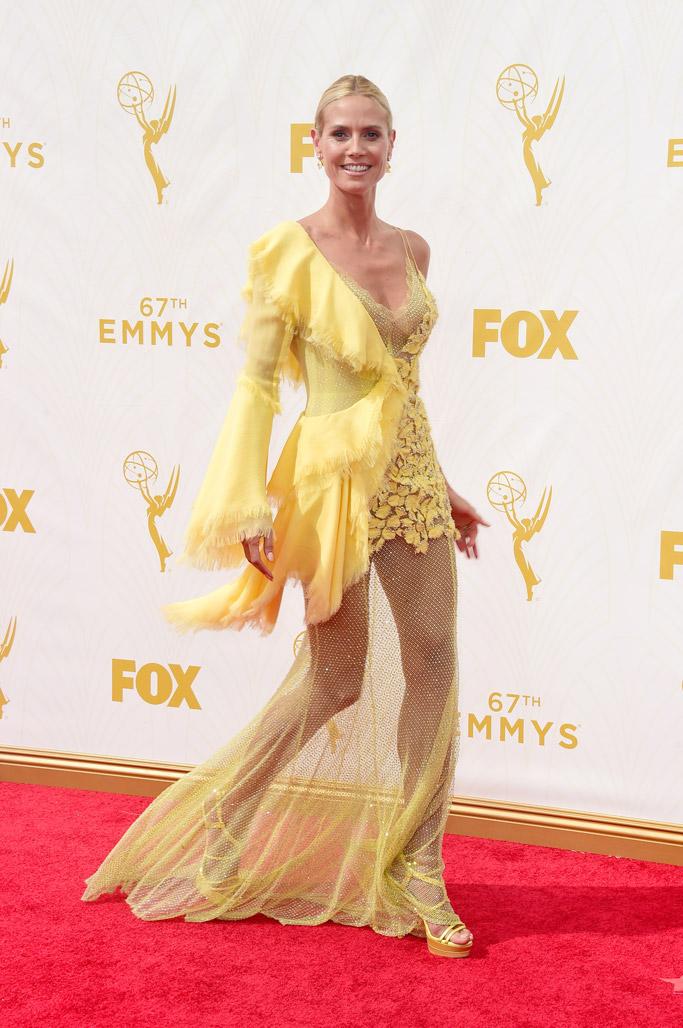 Heidi Klum 2015 Emmy Awards