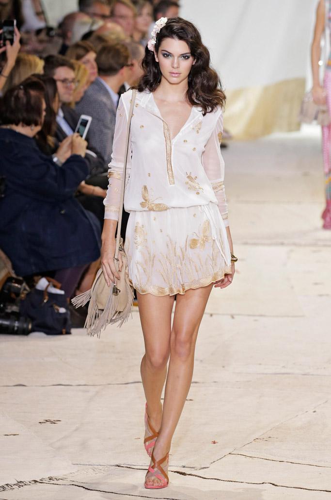 Kendall Jenner DVF Spring 2016 New York Fashion Week