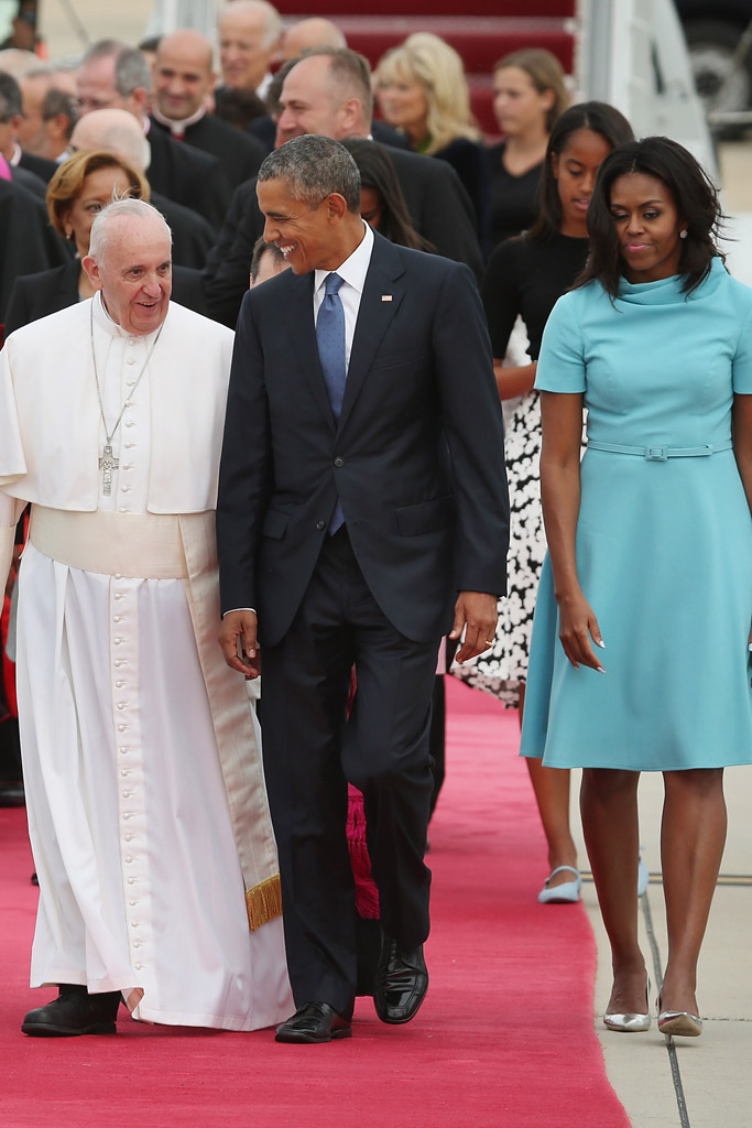 Michelle Obama Pope Shoes