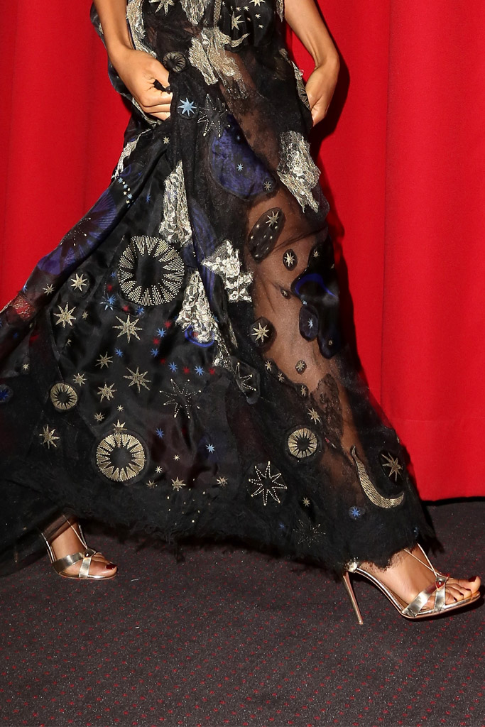 Naomi Harris Celebrity Statement Shoes Fall 2015