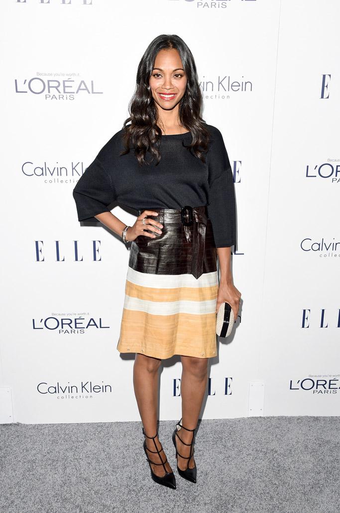 Zoe Saldana Celebrity Statement shoes Fall 2015