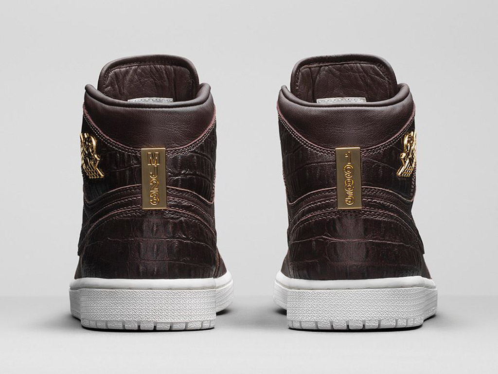 Air Jordan 1 Pinnacle Baroque Brown Heel