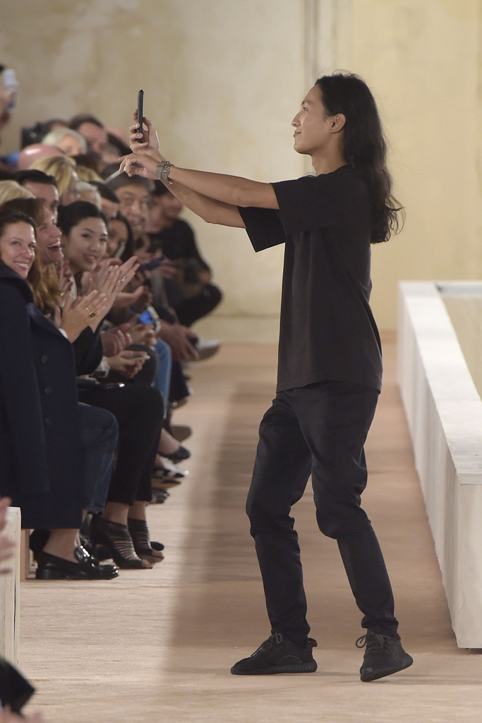Alexander Wang Balenciaga Spring 2016 Paris Fashion Week Black Yeezys