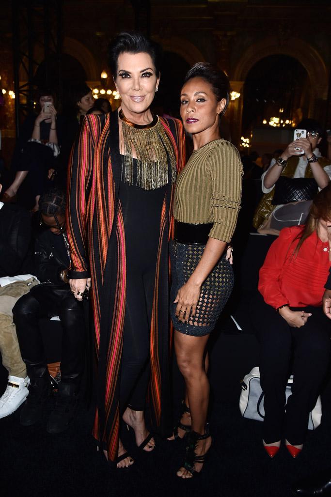 Balmain Paris Fashion Week Front Row