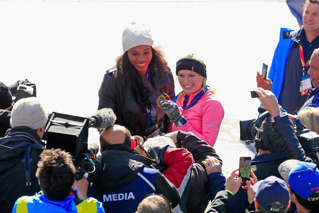 2014 NYC Marathon; Caroline Wozniacki