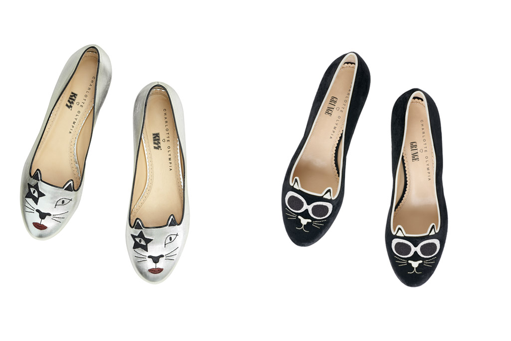 Charlotte Olympia Kitty Flats: Kitty Unplugged Collection