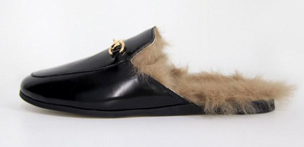 gucci fur shoes fake