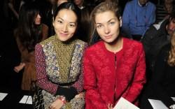 Moncler Gamme Rouge Front Row Paris Fashion Week