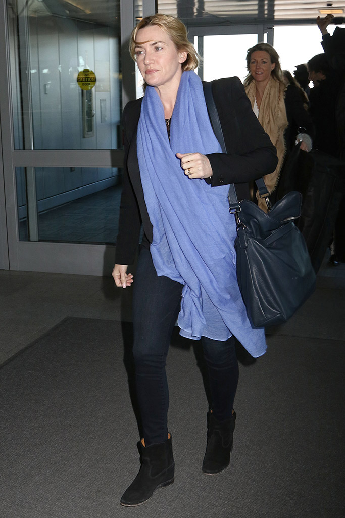 Kate Winslet Airport Style