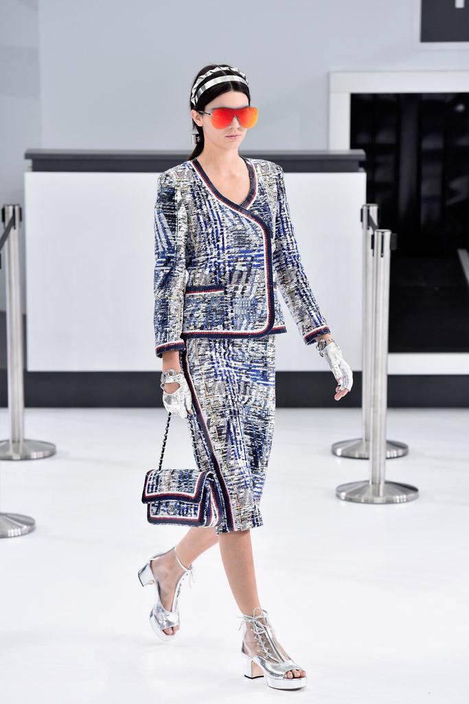 Kendall Jenner Chanel Spring 2016 Paris Fashion Week