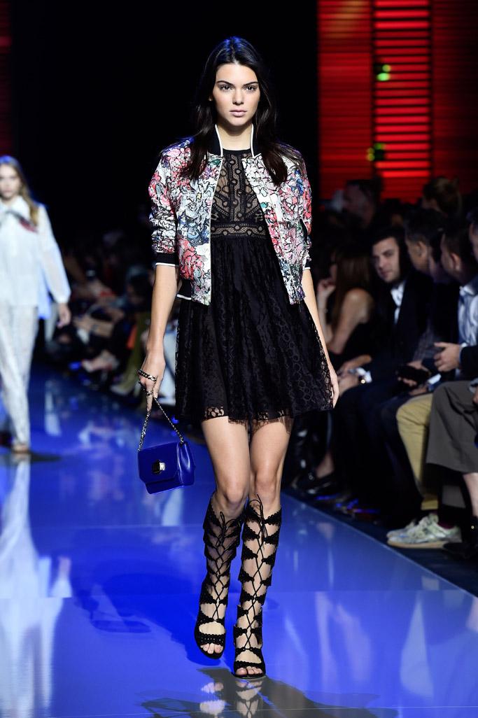 Kendall Jenner Elie Saab Spring 2016 Paris Fashion Week