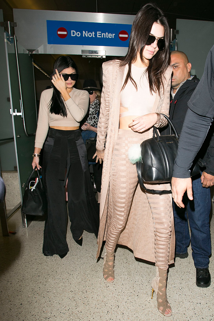 Kendall Kylie Jenner Airport Style