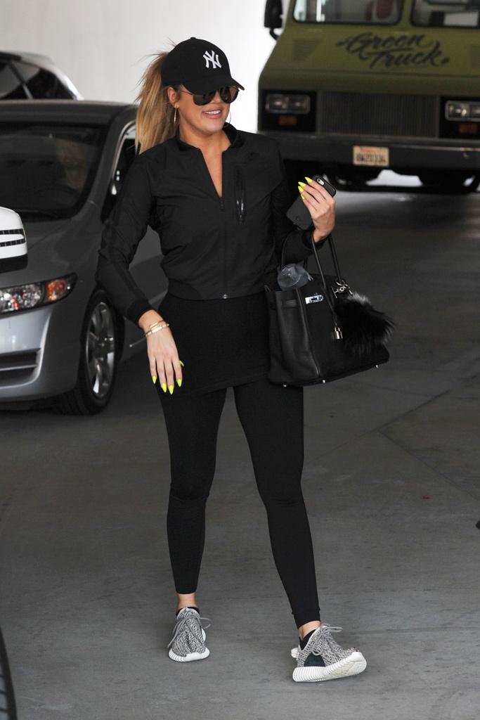 Khloe Kardashian Gym Sneakers Style