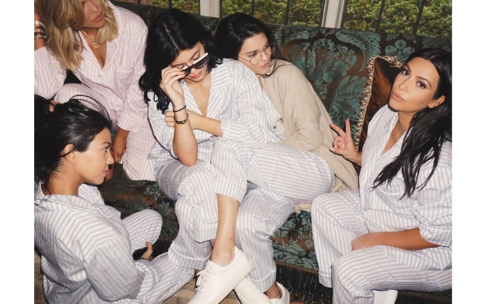 Kim Kardashian West White Yeezys Baby Shower