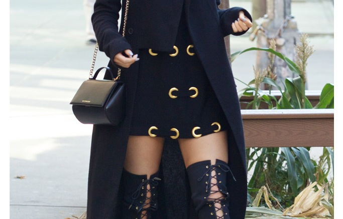Kylie Jenner NYC Tom Ford Lace Up Boots