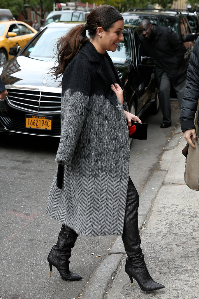 Lea Michele Celebrity Shoes