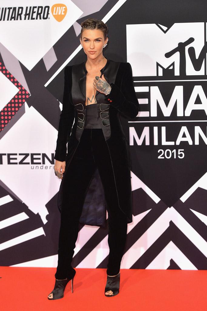 Ruby Rose MTV EMAs 2015 Red Carpet