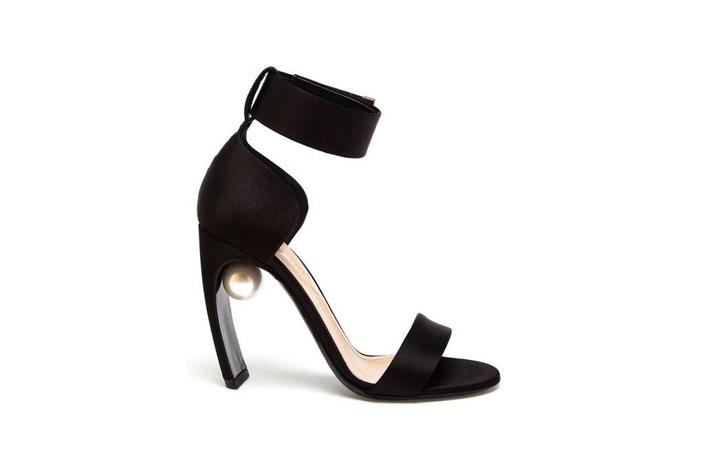 Nicholas Kirkwood Silk Maeva Pearl Strap Sandal
