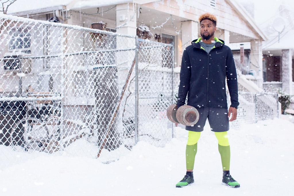 Odell Beckham Jr. Nike Snow Day