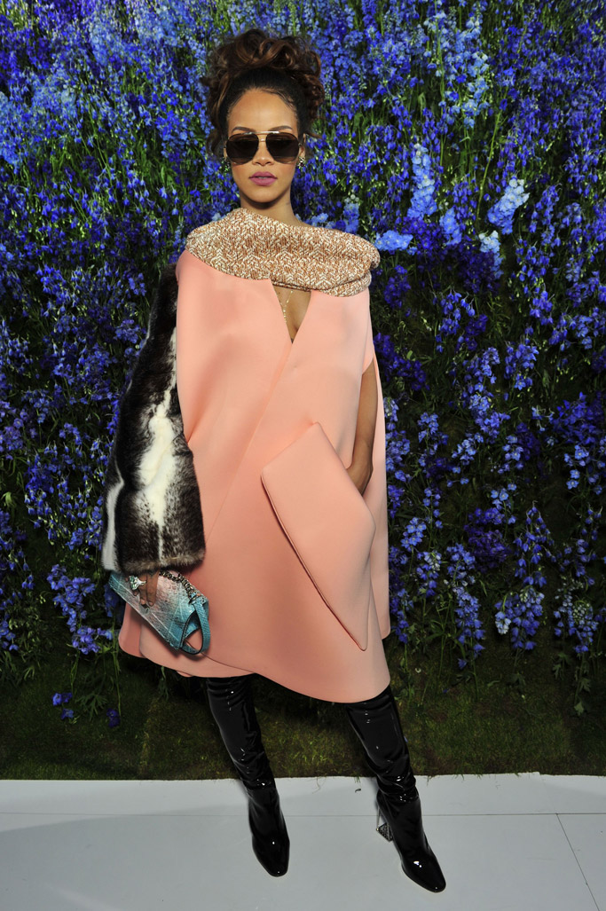rihanna dior paris fashion week