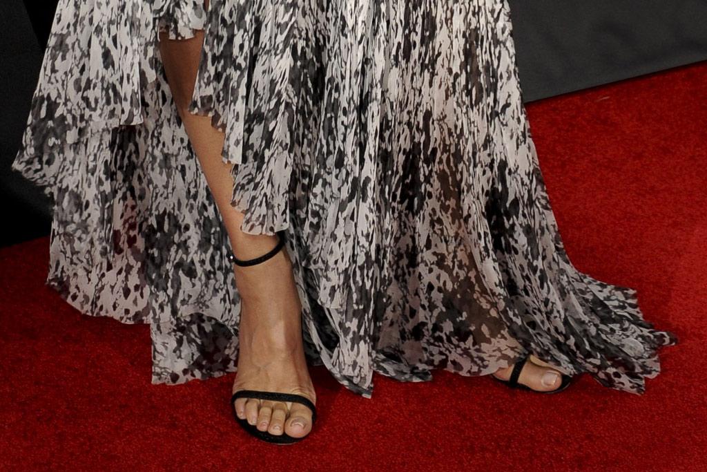 Sandra Bullock Stuart Weitzman Nudist Sandals